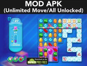 Candy Crush Soda Saga MOD APK 1.202.4 (Unlimited Move/All Unlocked) 1