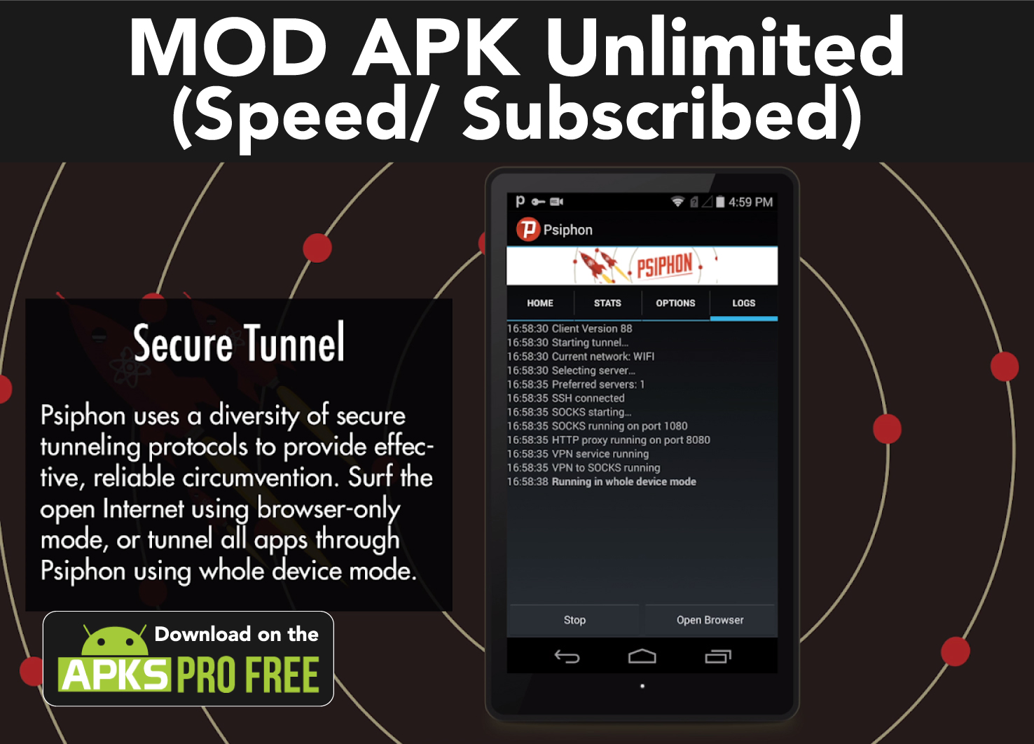 Psiphon PRO Latest MOD APK (Unlimited Speed/Subscribed)
