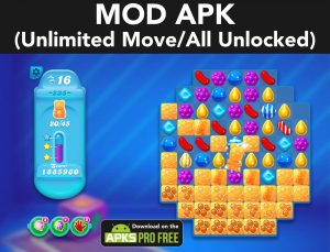 Candy Crush Soda Saga MOD APK 1.202.4 (Unlimited Move/All Unlocked) 2