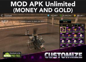 Gunship Battle: Helicopter 3D MOD Apk 2.8.11(Unlimited Money/ Gold) 3