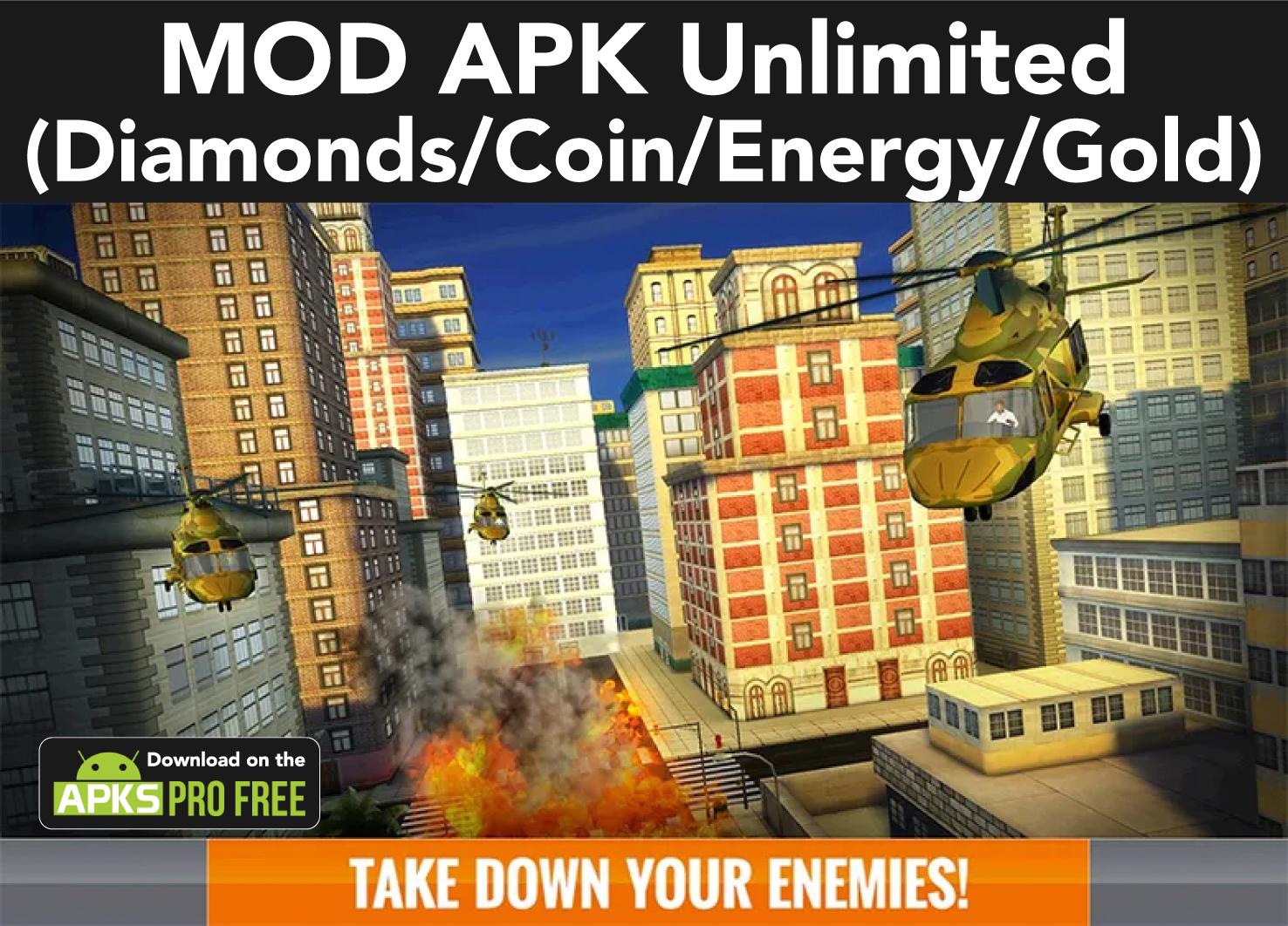 Sniper 3D MOD APK (Unlimited Diamonds/Coin/Energy/Gold)