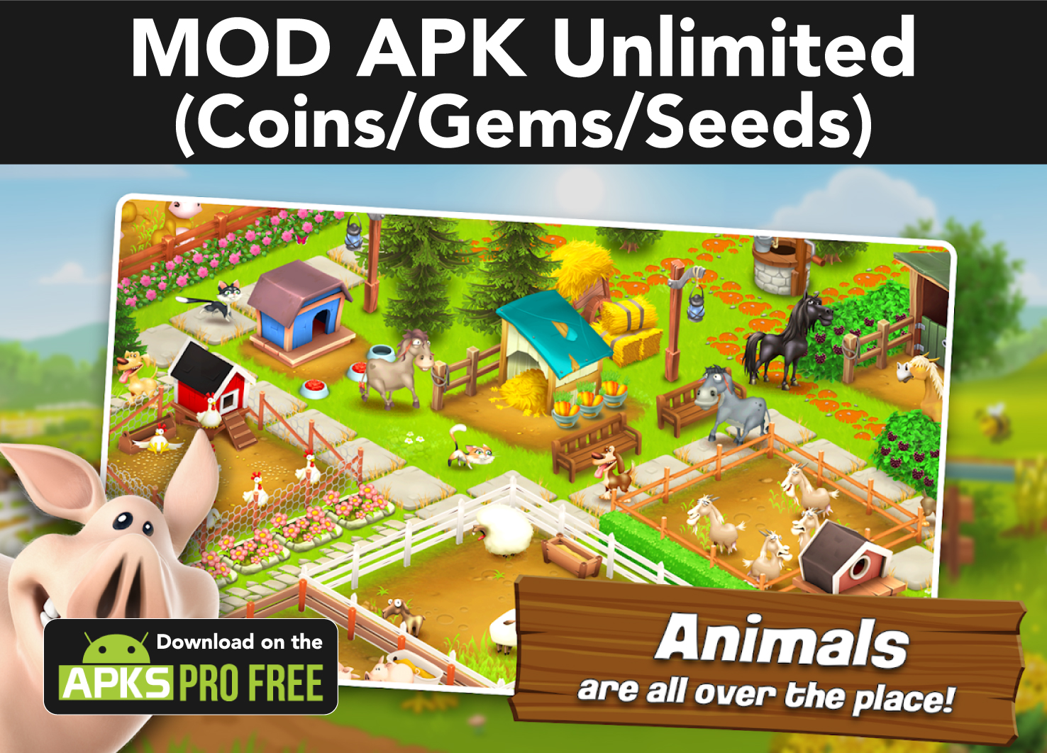 Hay Day MOD Latest Apk (Unlimited Coins/Gems/Seeds)