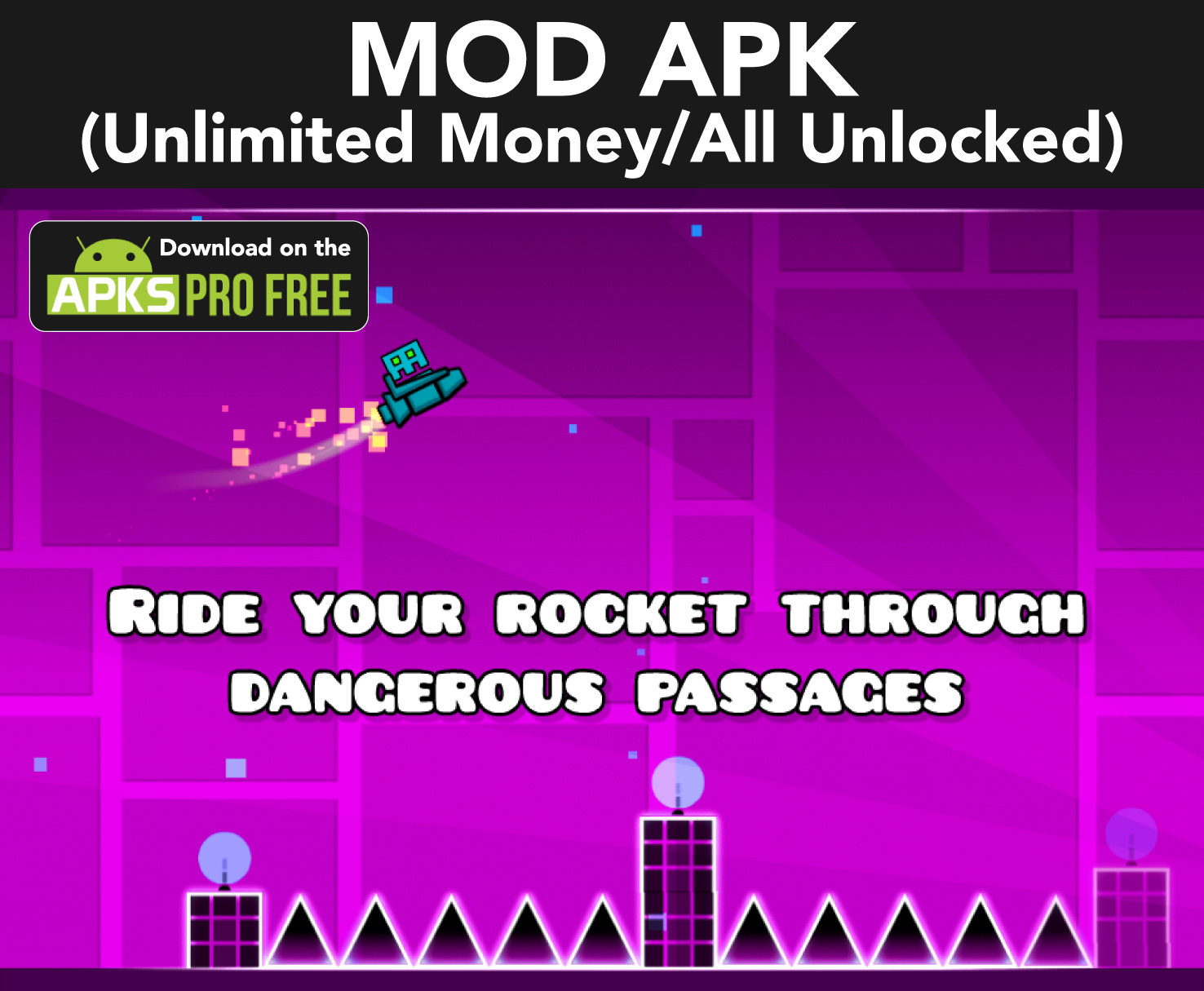Geometry Dash MOD Apk (Unlimited Money/All Unlocked)