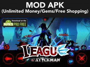 League of Stickman MOD Apk + OBB 6.1.6 (Unlimited Money/Gems) 5