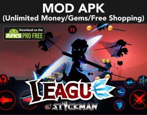League of Stickman MOD Apk + OBB 6.1.6 (Unlimited Money/Gems) 4