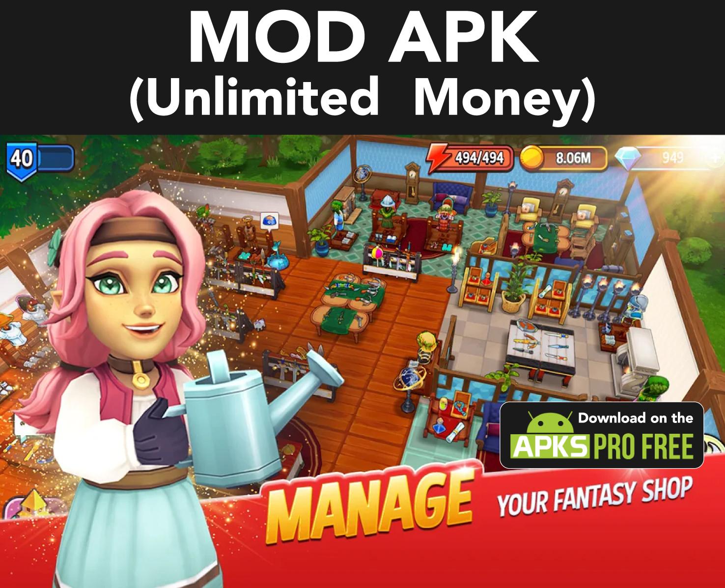 Shop Titans MOD Apk (Unlimited Money)