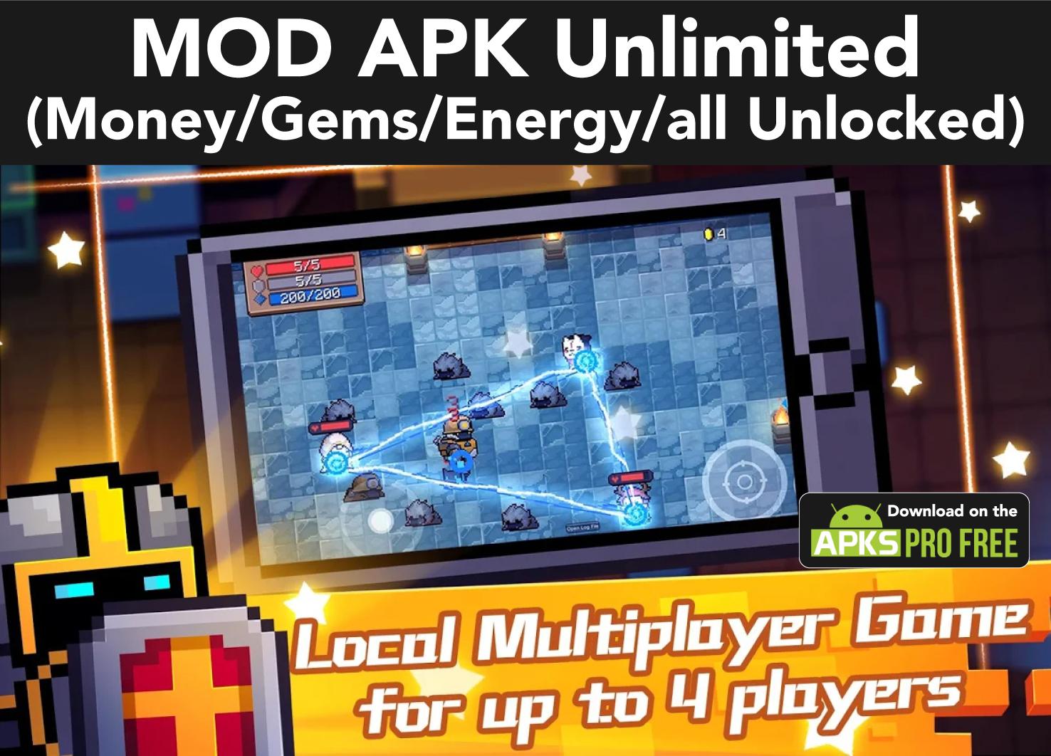 Soul Knight MOD APK(Unlimited Money/Gems/Energy/all Unlocked)