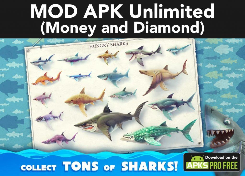 Hungry Shark World MOD Apk (Unlimited Money and Diamond)