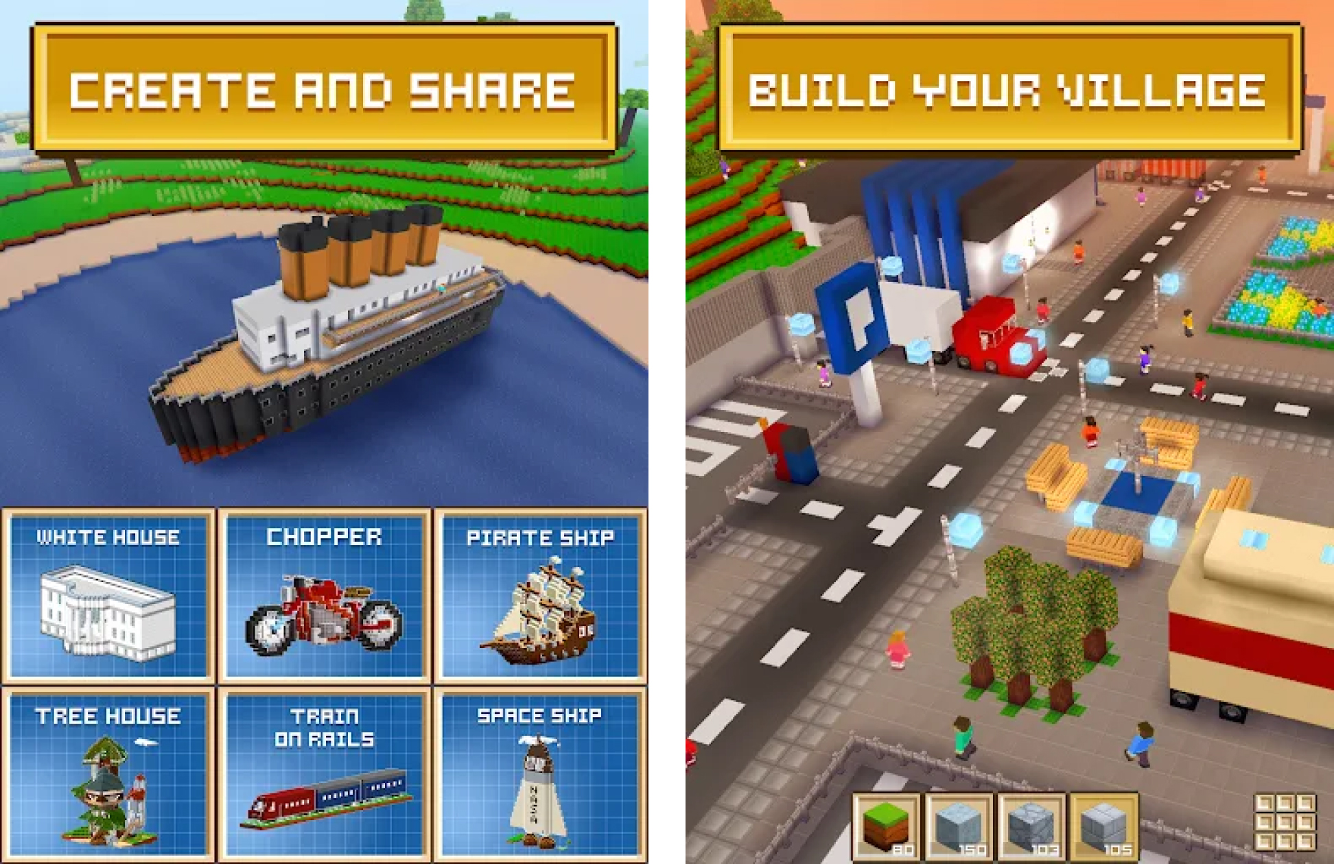 Block Crafts 3D MOD APK (Unlimited Money/Gems)