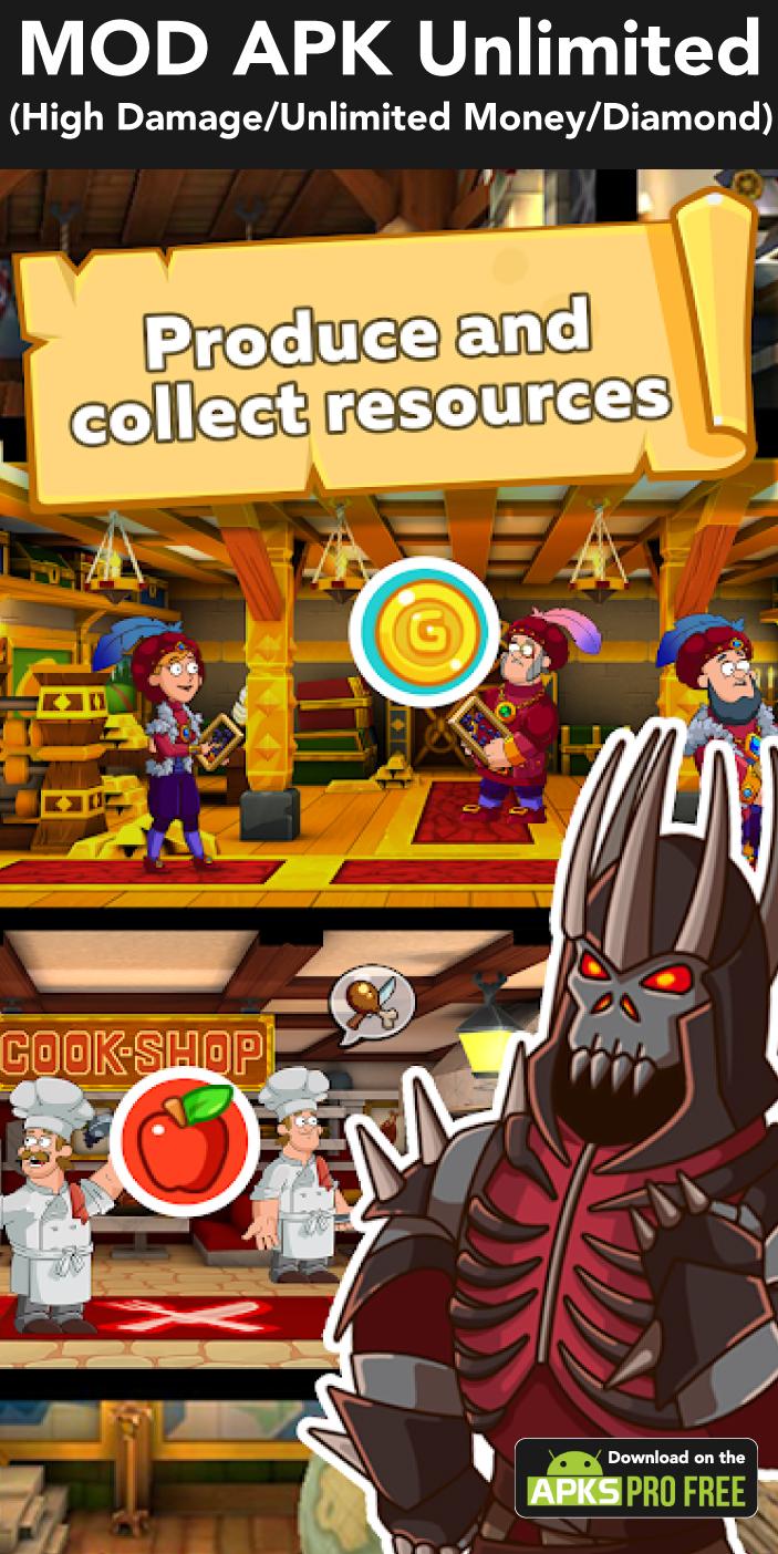 Hustle Castle: Fantasy Kingdom MOD APK(High Damage/Unlimited Money)