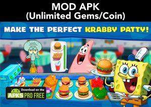 SpongeBob: Krusty Cook-off MOD APK 4.3.1 (Unlimited Gems/Coin) 2