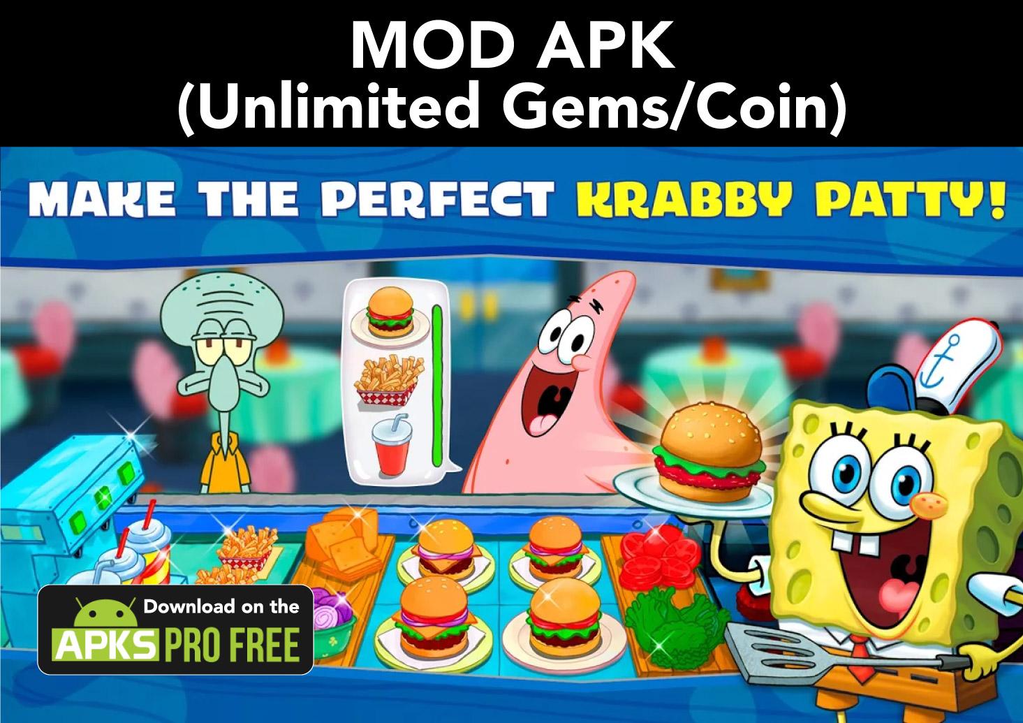 SpongeBob: Krusty Cook-off MOD APK (Unlimited Gems/Coin)