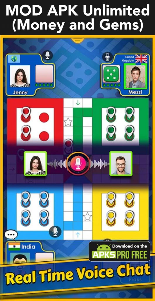 LUDO KING™ MOD Apk (Unlimited Money and Gems)